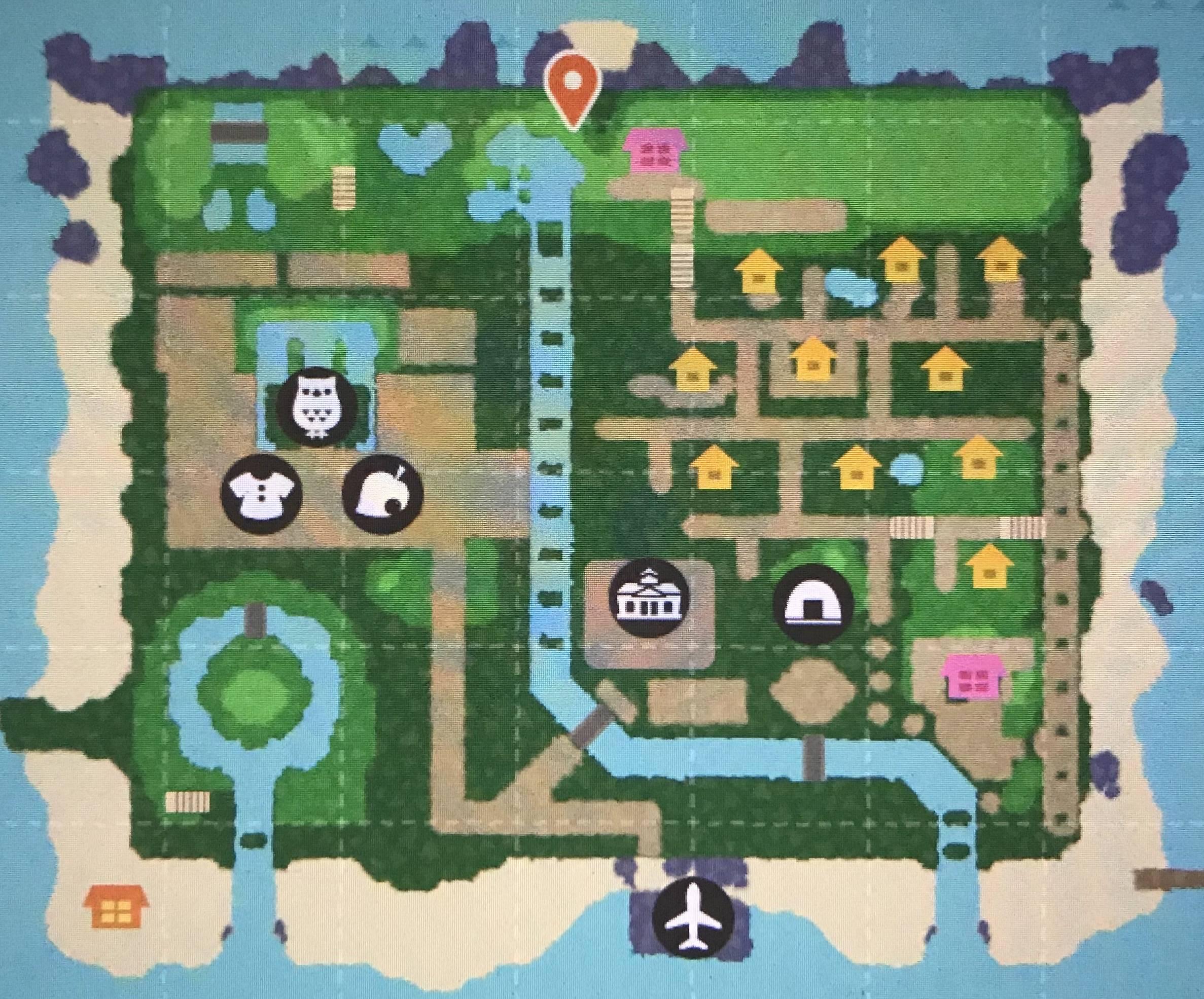 森 レイアウト 地図 島 あつ